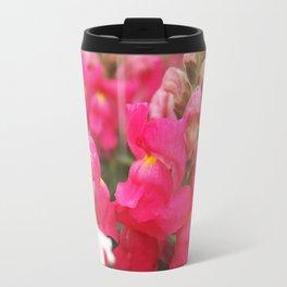 Pink Snapdragon Travel Mug