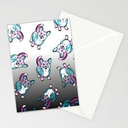 Corgi in Watercolor Splash Stationery Cards