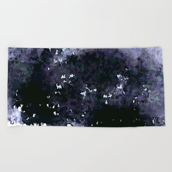 When the night is falling Beach Towel