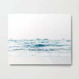 Water, Sea, Ocean, Water, Blue, Nature, Modern art, Art, Minimal, Wall art Metal Print