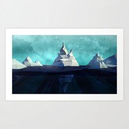 Icebergs Art Print