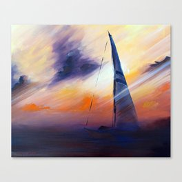 Untitled Boat on the Sea  Canvas Print