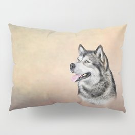 Dog Alaskan Malamute Pillow Sham