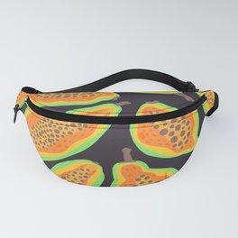 Papaya clip art background pattern Fanny Pack