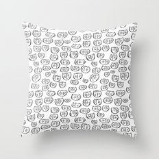 Fussy Cat Throw Pillow
