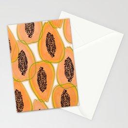 Papaya Cravings #illustration #pattern Stationery Cards