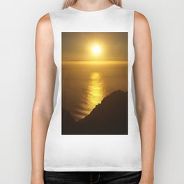 Sunset over the Canary islands Biker Tank
