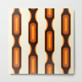 Capsules 1970s Orange Meets Mid-Century Modern Metal Print