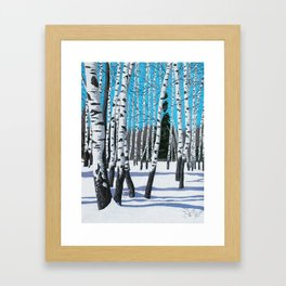 Winter Birches Framed Art Print