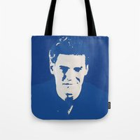 buffy the vampire slayer Tote Bags featuring Angelus - Buffy the Vampire Slayer by Laura