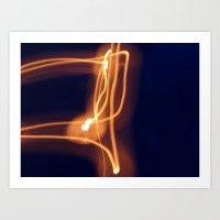 Light-Flame Art Print