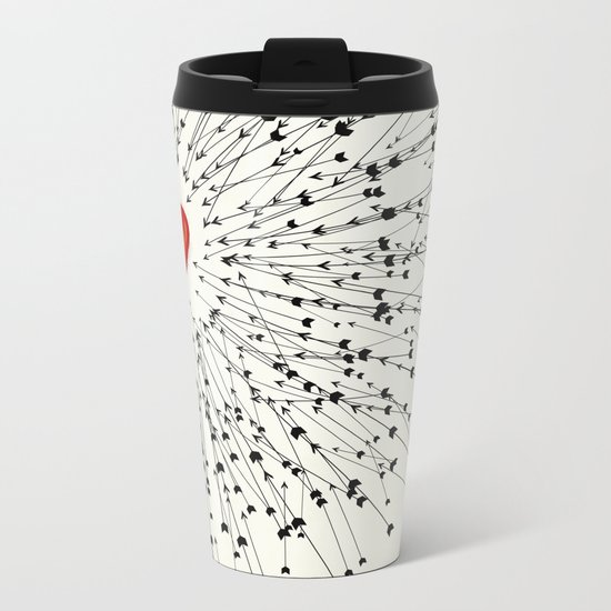 Heart&Arrows Metal Travel Mug