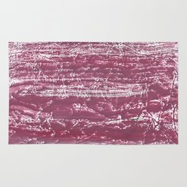 Cherry colorful watercolor painting Rug