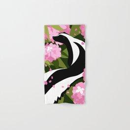 Springtime Skunk Among the Flowers Hand & Bath Towel