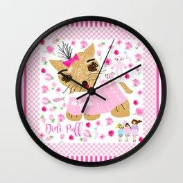 Didi puff Wall Clock