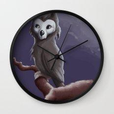 Skull Owl  Wall Clock