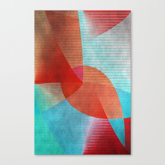 Multicolored abstract 2016 / 015 Canvas Print
