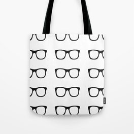 Glasses Pattern (B&W) Tote Bag