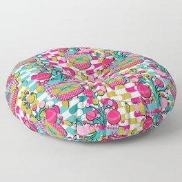 Retro Christmas Tree with Presents Floor Pillow