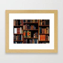 The Bookshelf (Color) Framed Art Print