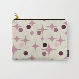 Retro Pattern Rose Carry-All Pouch