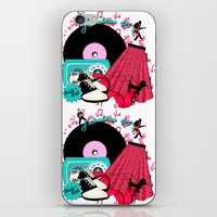 rock n roll iPhone & iPod Skins featuring Rockabilly Rock n Roll by BURPdesigns