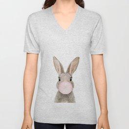 Bubble Gum Rabbit Unisex V-Neck