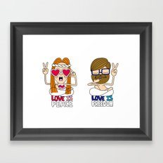LOVEISPEACE&FREEDOM Framed Art Print
