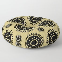 Black and Olive print Floor Pillow