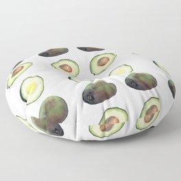Avocado Watercolor Floor Pillow