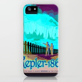Kepler-186f - NASA Space Travel Poster (Alt) iPhone Case