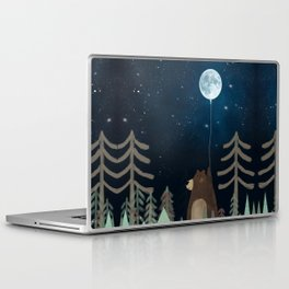 the moon balloon Laptop & iPad Skin