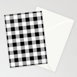 Black and White Check Stationery Cards