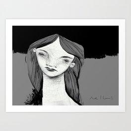 Reverie 001 ~ Digital iPad Sketchbook Drawing Art Print