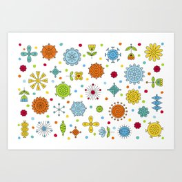 Happy Geometrics Art Print
