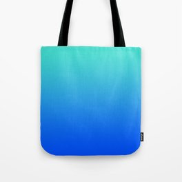 Bright Turquoise Blue Lagoon Ombre Tote Bag