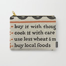 Food Dont Waste It Carry-All Pouch