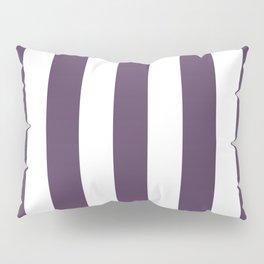 Old heliotrope violet - solid color - white vertical lines pattern Pillow Sham