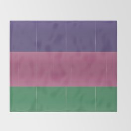 Purple Pink Green Bold Stripes Throw Blanket