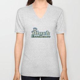 Empowerment Excellence Tshirt Design Black excellence Unisex V-Neck