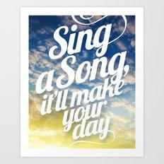 Sing A Song! Art Print