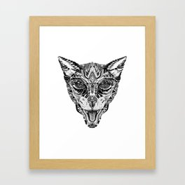 Wild cat Framed Art Print