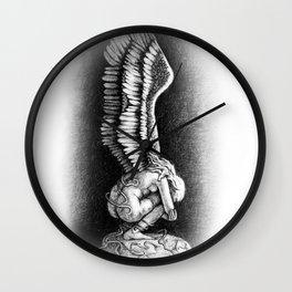 Angel Charcoal Drawing Wall Clock