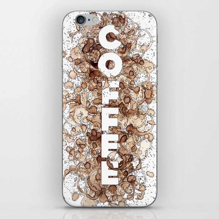 Coffee (patterned with REAL spilled coffee) iPhone Skin