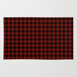Vintage New England Shaker Barn Red Buffalo Check Plaid Rug