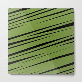 Green Scribble Metal Print