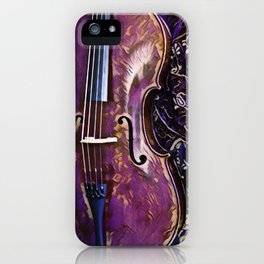 Heart Strings By Inez Benoit - Violet Cello iPhone Case
