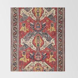 Dragon Sumakh Antique East Caucasus Kuba Rug Print Throw Blanket