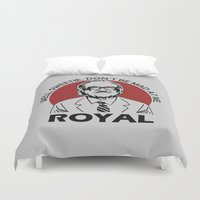 tenenbaum Duvet Covers featuring Royal Tenenbaum quotes by Buby87