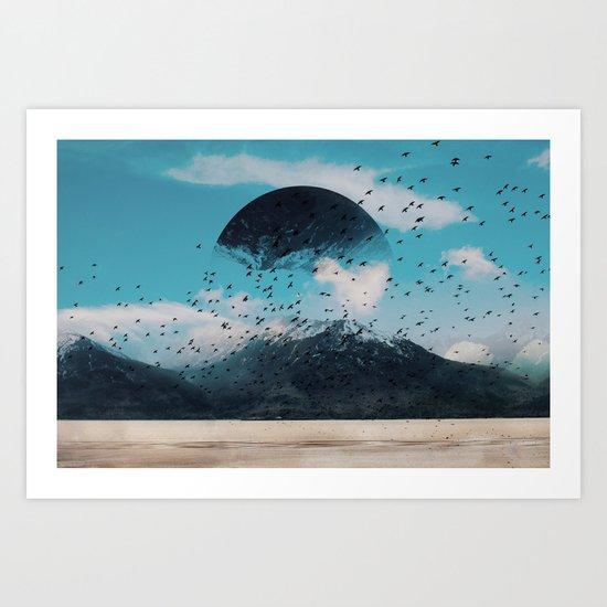 The crows start singing Art Print